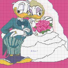 Schema punto croce Sposi