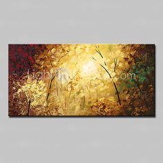 Pintados à mão Abstrato / Paisagem / Floral/Botânico / Paisagens AbstratasModerno 1 Painel Tela Pintura a Óleo For Decoração para casa de 2017 por $72.99