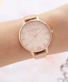 Apple Watch Discover Olivia Burton Rose Quartz Dial Watch Jewelry & Accessories - Watches - All Watches - Bloomingdales Trendy Watches, Cool Watches, Watches For Men, Cheap Watches, Women's Watches, Casual Watches, Gold Watches Women, Watches Online, Simple Watches