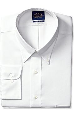 "Eagle Men's Tall Size Non Iron Flex Collar Solid Buttondown Collar Dress Shirt, White, 20"" Neck 37""-38"" Sleeve ❤ Eagle Dress Shirts"