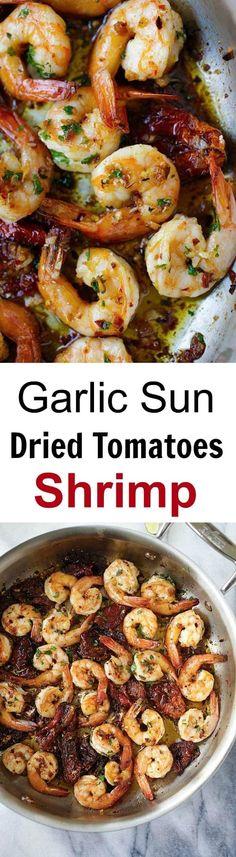 Garlic Sun-Dried Tomatoes Roasted Shrimp - Best garlic roasted shrimp recipe ever! Learn how to make this Spanish/Mediterranean dish   rasamalaysia.com