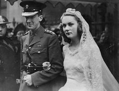 Lady Cromer, seen here on her wedding day to the third Earl of Cromer, revealed she walked barefoot down the aisle to avoid being taller than her husband