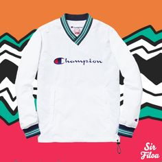 Supreme x Champion Warm Up Pullover | SS15 | www.supremenewyork.com/previews/springsummer15preview/jackets/champion-warm-up-pullover