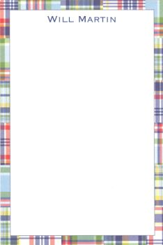 Personalized Blue Madras Notepad ($37.95)