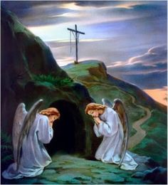 Resurrection of Jesus Christ Angel Pictures, Jesus Pictures, Bible Pictures, Saturday Pictures, The Lord, Holy Saturday, Easter Saturday, Empty Tomb, Jesus Christ