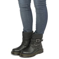 womens dr martens black rapture kristy slouch boots