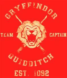 Camiseta chica Harry Potter. Gryffindor Team Captain