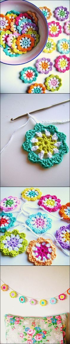 Crochet Flowers Patterns 20 Amazing Free Crochet Patterns That Any Beginner Can Make---crochet a mini… - Is crocheting one of those things you have always wanted to learn? You can learn how to crochet with this collection of amazing free crochet patterns. Crochet Diy, Crochet Motifs, Crochet Flower Patterns, Crochet Squares, Love Crochet, Learn To Crochet, Crochet Crafts, Yarn Crafts, Crochet Flowers