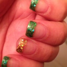My st. patrick's day nails. :)