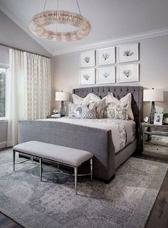 21 Stunning Grey and Silver Bedroom Ideas | Ideas for the House ...