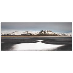 Liloni Luca 'Iceland First Snow' Snowy Landscape Art on Metal or Acrylic