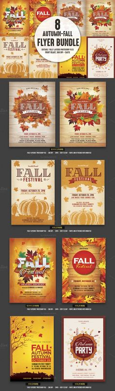 Autumn / Fall Flyer Autumn fall, Flyer template and Template