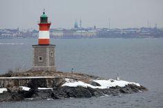 Harmajan majakka Water Tower, Windmills, Helsinki, Nature Pictures, Lighthouses, Towers, Finland, Beautiful Places, Wheels