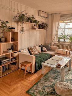Boho Living Room, Living Room Decor, Room Ideas Bedroom, Bedroom Decor, Aesthetic Room Decor, Cozy Room, Dream Rooms, My New Room, House Rooms