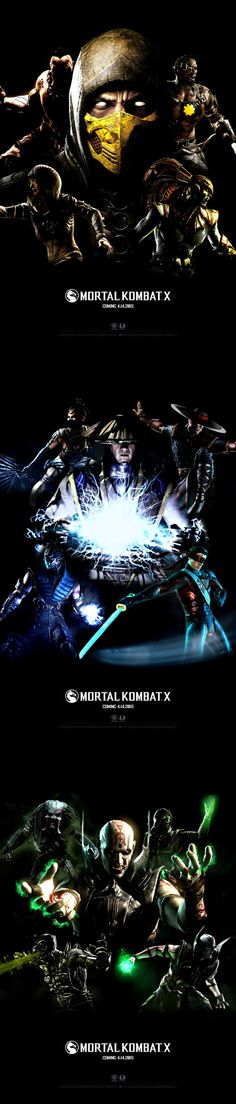 Mortal Kombat X (MKX) - Posters // FanART on Behance