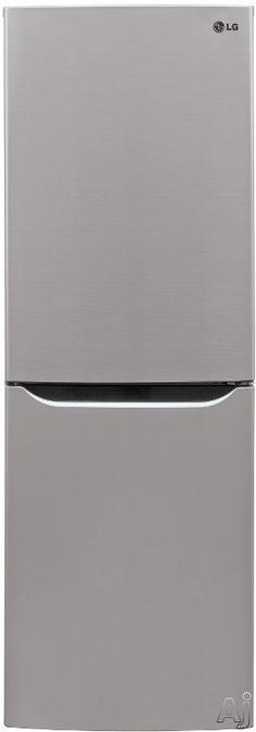 LG LBN10551 10.1 cu. ft. Counter-Depth Bottom-Freezer Refrigerator with 2 Spillproof Glass Shelves, 1 Humidity Crisper, Multi Air Flow, Smar...