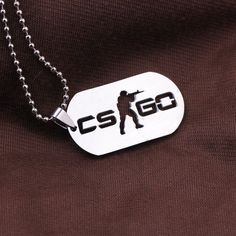 CS Go CSGO military dog tag style necklace multiplayer video game rekt nerd