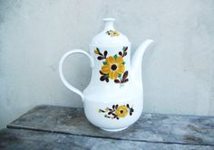 Vintage German Kahla porcelain teapot coffee pot with by semivint