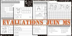 La maternelle de Laurène: Evaluations de juin Moyenne section