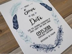 Planning a rustic or boho-inspired wedding? Customize this printable Bohemian DIY Save the Date and print as many copies as you need! MountainModernLife.com