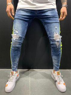 Denim Cargo Pants, Denim Shirt With Jeans, Denim Joggers, Biker Jeans, Denim Shirts, Men's Denim, Men's Jeans, Men Street Look, Street Style