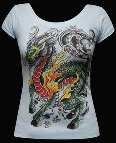 Women's My Little Dragon Scoop Neck Tee by Lowbrow Art Company