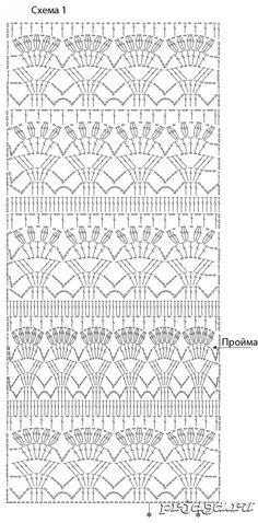 Crochet Patterns Skirt Vestido com jugo gancho rodada 2 / Dress with round coquette … Granny Square Häkelanleitung, Granny Square Crochet Pattern, Crochet Diagram, Crochet Motif, Crochet Designs, Easy Crochet, Granny Squares, Crochet Top, Stitch Patterns