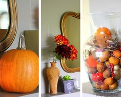 Jennifer Lutz's Fall Decorating Ideas for Your Mantel: Use natural elements