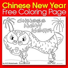 Chinese New Year Free Coloring Page!
