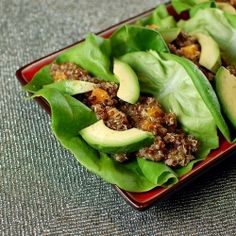 i'll eat anything in lettuce wrap form. throw in some avocados and i'm really sold.
