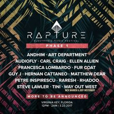 Rapture Electronic Music Festival, Miami's new beachfront festival during Miami Music Week: Introducing Rapture Electronic Music Festival,…