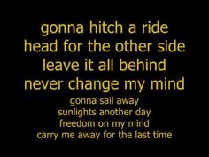 Boston Hitch A Ride with lyrics...I could listen to Boston...ALL. DAY. LONG.