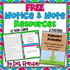 Notice and Note Signposts: FREE Posters and. by Deb Hanson Whole Brain Teaching, Teaching Reading, Guided Reading, Teaching Time, Teaching Kindergarten, Reading Activities, Teaching Tools, Teaching Ideas, Reading Passages