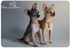 Chihuahua /Needle felted animal/Felt dog/Chihuahua by Felteddoggie