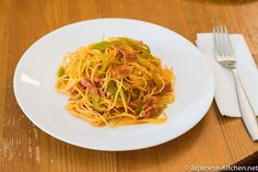 The older Japanese like me have a special place for spaghetti napolitan in their hearts. Before we started to familiarize themselves any Western style food, such as prosciutto, crepes, or even hamb… Japanese Grocery, Japanese Food, Japanese Coffee Shop, Western Food, Western Style, Japanese Kitchen, Asian Recipes, Ethnic Recipes, Meals