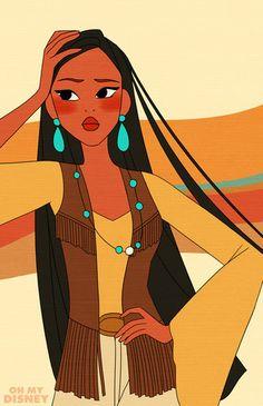 Retro Pocahontas - disney-princess Photo