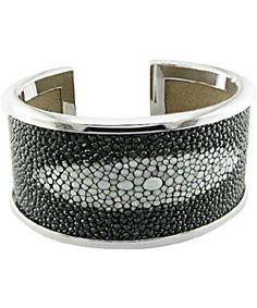 Stingray Skin | Sterling Silver Faux Stingray Leather Cuff Bracelet (case of 6)
