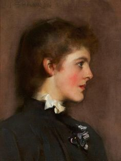James Jebusa Shannon - Portrait of a Young Woman | 1stdibs.com