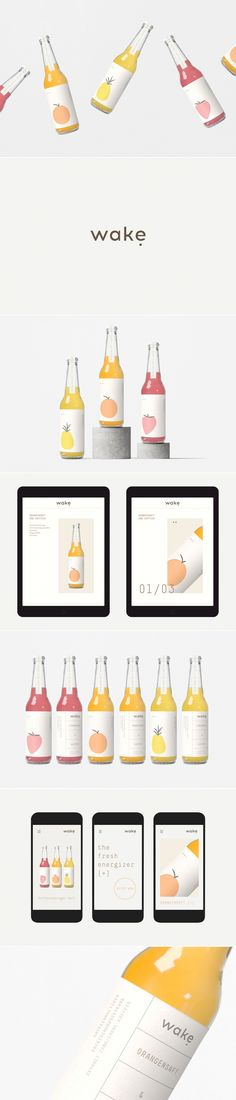 Wake juice packaging and web design by Fagerström Studio | Fivestar Branding Agency – Design and Branding Agency & Curated Inspiration Gallery #juice #packaging #branding #webdesign #design #behance #pinterest #dribbble #fivestarbranding