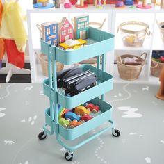 Toy Storage, Storage Ideas, Ikea Trolley, Kitchen Cart, Art Supplies, Playroom, Organization, Cars, Furniture