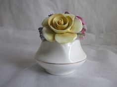 Shabbily Sweet Sandford Bone China Flower Basket - made in England