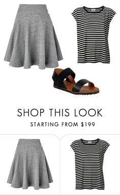 """grey skirt outfit 2"" by jessica-rose-lentz on Polyvore featuring Kenzo, Yves Saint Laurent and Miz Mooz"