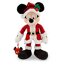 Santa Mickey Mouse Plush with Ornament - Medium - 16''