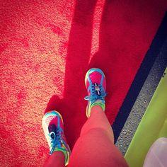 @Meghan Dorsey's photo: Red Carpet at the finish line! #newton #newtonrunning #nike #nwm