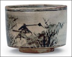 Incense burner with design of mountain retreat by Ogata Kenzan, 1712- ca 1731, Kyoto workshop, Japan, Edo period era