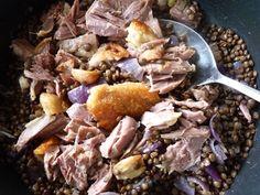 rakottkert: A konfitálás hasznai: meleg lencsesaláta kacsacombbal Pork, Kale Stir Fry, Pork Chops