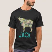 Psychedelic goat on things, add your name T-Shirt