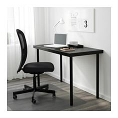 New White Desk with Silver Legs