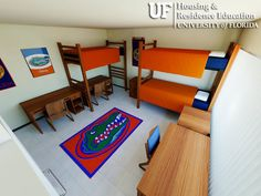 Yulee Area Double Uf Housing Kids Rugs Dorm Home Decor