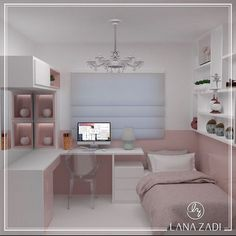 Trendy home decored ideas bedroom kids awesome Tiny Bedroom Design, Small Room Design, Girl Bedroom Designs, Small Room Bedroom, Home Decor Bedroom, Kids Bedroom, Cute Room Decor, Trendy Home, Dream Rooms